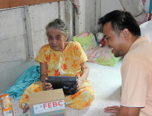 We thank all our supporters for taking part in FEBA/FEBC ministry by donating radios!